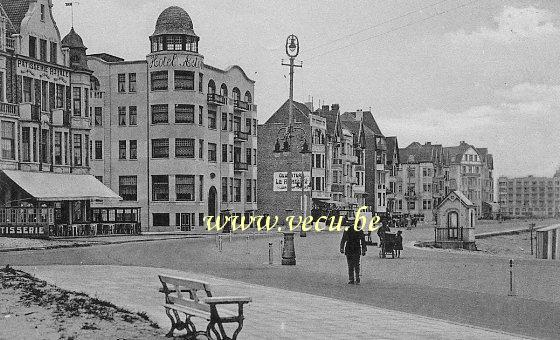 ancienne carte postale de Knokke Albert Plage - La Digue