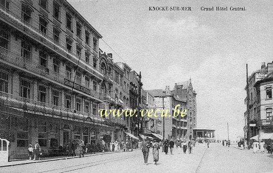 ancienne carte postale de Knokke Grand Hôtel Central