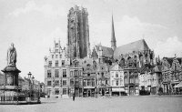 carte postale ancienne de Malines Grand'Place