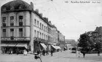 carte postale ancienne de Schaerbeek Place Foch
