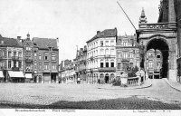 carte postale ancienne de Schaerbeek Place Colignon