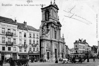 carte postale ancienne de Saint-Josse Place de Saint-Josse-ten-Noode