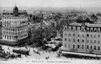 Cartes postales anciennes de bruxelles boulevard du for Boulevard du jardin botanique 20 22