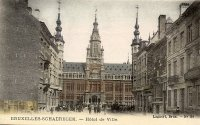 carte postale ancienne de Schaerbeek Maison communale