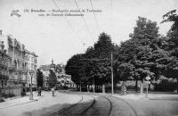 carte postale ancienne de Woluwe-St-Pierre Rond-Point avenue de Tervueren coin de l'avenue Gribaumont