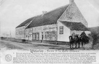 carte postale ancienne de Waterloo Ferme de la Belle-Alliance