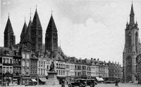 carte postale ancienne de Tournai La Grand'Place
