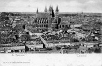 carte postale ancienne de Tournai Le panorama