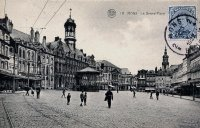 carte postale ancienne de Mons La Grand'Place
