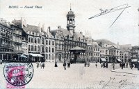 carte postale ancienne de Mons Grand'Place