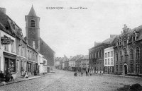 carte postale ancienne de Beaumont Grand'Place