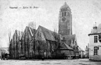 carte postale ancienne de Tournai Eglise Saint Brice