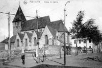 carte postale ancienne de Marcinelle Eglise du centre
