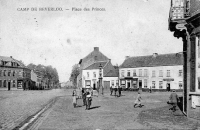 carte postale ancienne de Beverlo Camp de Beverloo - Place des Princes