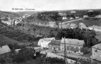 carte postale ancienne de St-Servais Panorama