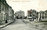 carte postale ancienne de Ruisbroek Place Communale