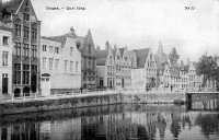 carte postale ancienne de Bruges Quai long