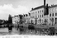carte postale ancienne de Bruges Le Quai Sainte-Anne