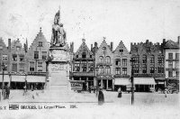 carte postale ancienne de Bruges La Grand'Place