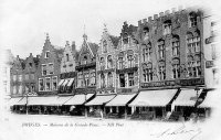carte postale ancienne de Bruges Maisons de la Grand'Place
