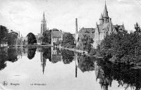 carte postale ancienne de Bruges Le Minnewater