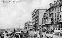carte postale ancienne de Heyst Digue centre