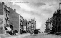 carte postale ancienne de Knokke Grand hôtel central