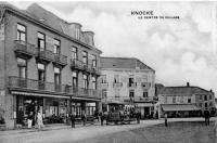 carte postale ancienne de Knokke Le centre du village