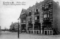 carte postale ancienne de Knokke Villas Elite