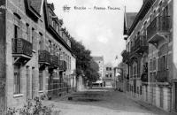 carte postale ancienne de Knokke Avenue Fincens