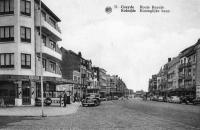 carte postale ancienne de Coxyde Route royale